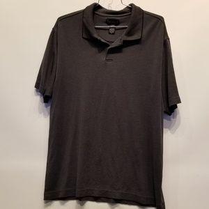 Perry Ellis Portfolio Gray Polo Shirt EXC XXL